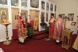 Metropolitan Tikhon's first visit to St. Luke's